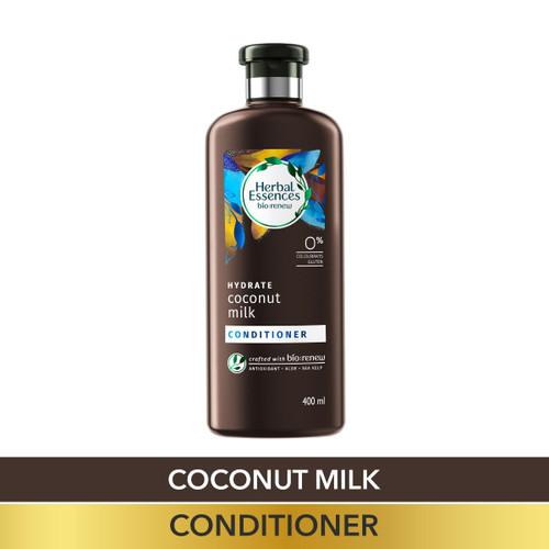 Herbal Essences Coconut Milk CONDITIONER, For Hydration- No Paraben, No Colorants, No Gluten , 400 ML