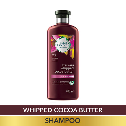 Herbal Essences Vitamin E with Cocoa Butter SHAMPOO- For Strengthen and No Hairfall - No Paraben, No Colorants, 400 ML