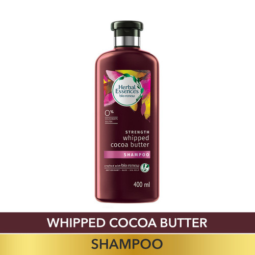 Herbal Essences Vitamin E with Cocoa Butter SHAMPOO, For Strengthen and No Hairfall - No Paraben, No Colorants, 400 ML
