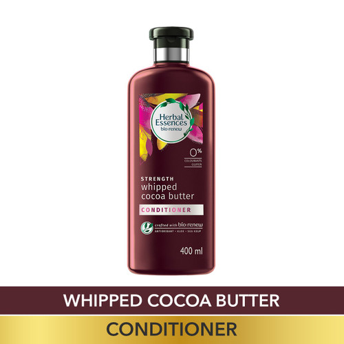 Herbal Essences Vitamin E with Cocoa Butter CONDITIONER,  For Strengthen and No Hairfall - No Paraben, No Colorants, 400 ML