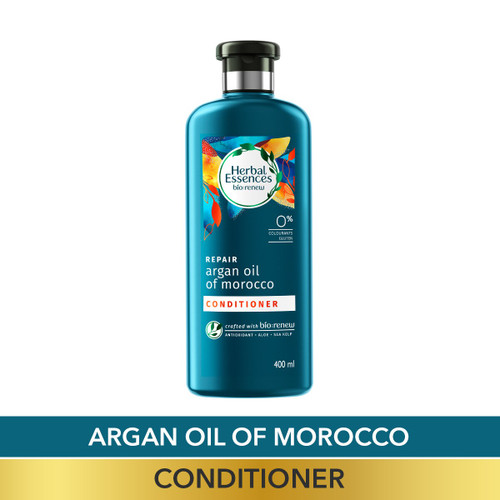 Herbal Essences Argan Oil of Morocco CONDITIONER,  For Hair Repair and No Frizz- No Paraben, No Colorants, 400 ML