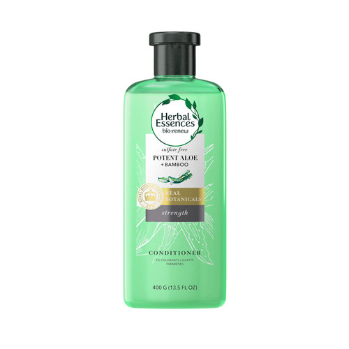 Herbal Essences Potent Aloe & Bamboo Conditioner, Sulphates and Paraben Free, 400 ml