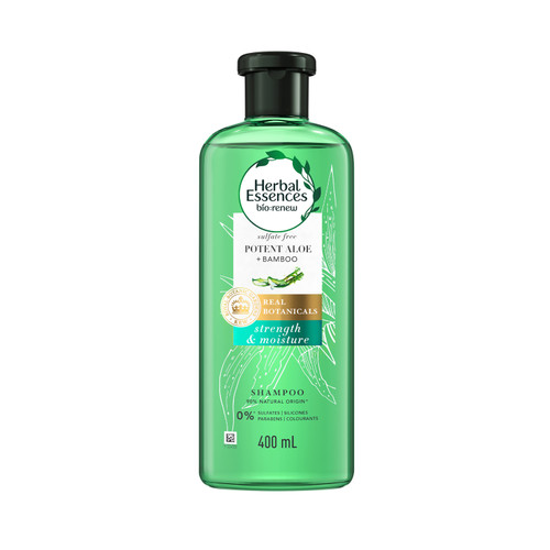 Herbal Essences Real Aloe & Bamboo Shampoo, Sulfates, Paraben and Silicone Free, 400ML