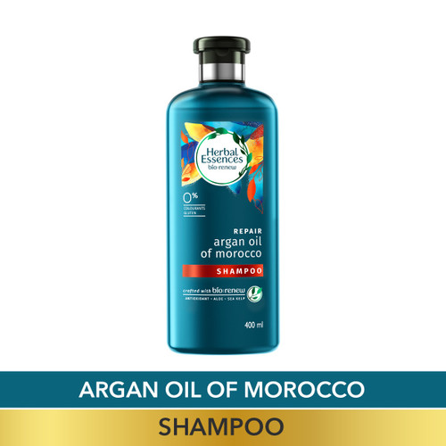 Herbal Essences Argan Oil of Morocco SHAMPOO- For Hair Repair and No Frizz- No Paraben, No Colorants-400 ML