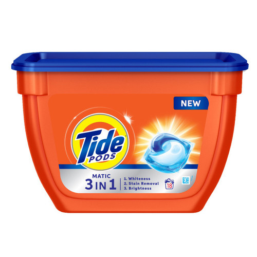 Tide Matic 3in1 PODs Detergent Pack, 18 count