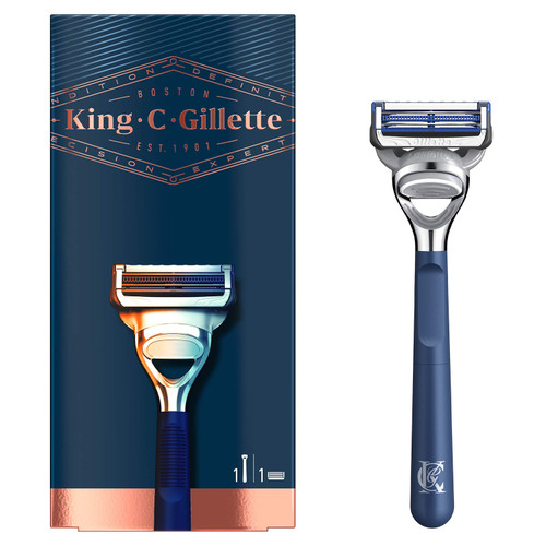 King C. Gillette Men's Neck Razor, for Sensitive Skin (Neck and Cheeks) with Built in Precision Trimmer for Shaping