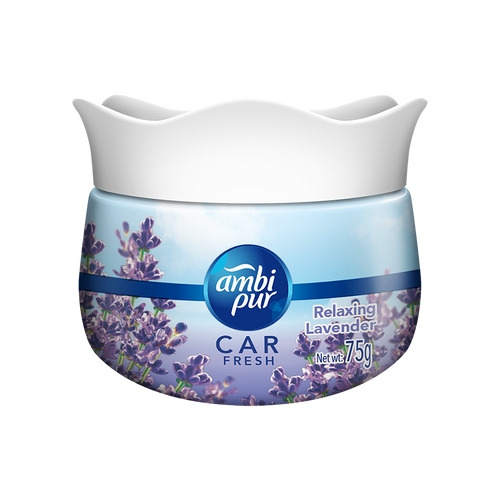 Ambi Pur Car Freshener Gel – Relaxing Lavender, 75 g