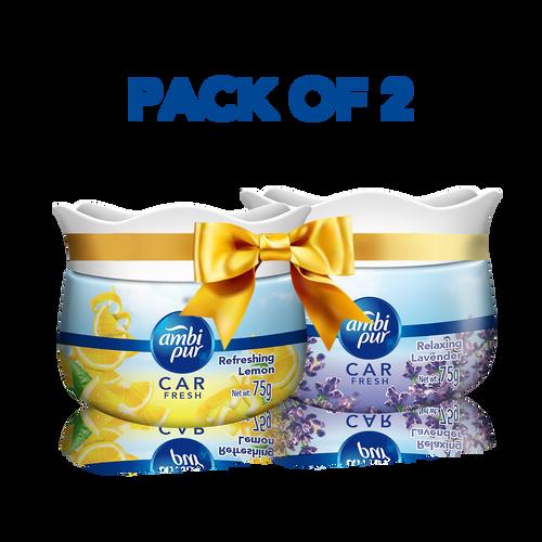 Ambi Pur Car Freshener Gel – Refreshing Lemon 75 g and Ambi Pur Car Freshener Gel – Relaxing Lavender  75 g