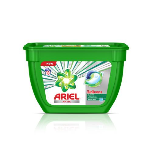 Ariel Matic 3in1 PODs Detergent Pack - 18 ct