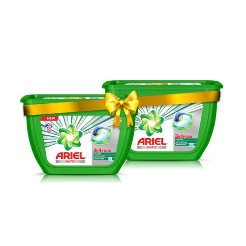 Ariel Matic 3in1 PODs Detergent Pack - 18 ct_Pack of 2