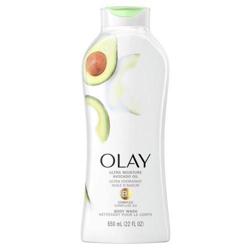Olay Ultra Moisture Body Wash with Avocado Oil, 650 ml