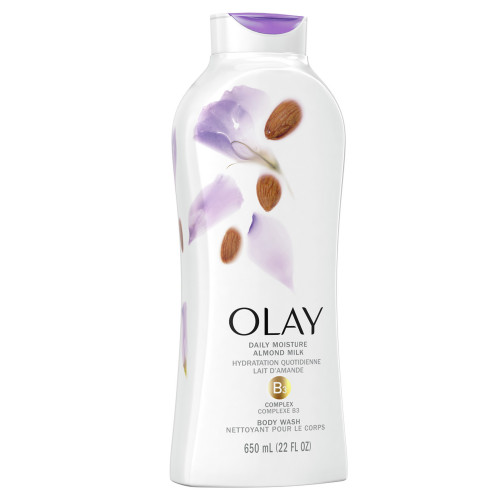 Olay Daily Moisture Body Wash with Almond Milk, 650 ml