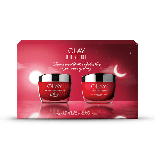 Olay Regenerist Whip UV SPF 30 50gm cream + Regenerist MS Night 50gm cream– Day and Night Skincare kit