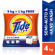 Tide Ultra 3 in 1 Clean Detergent Powder - 3 kg + 1 kg Free = 4 kg