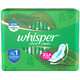 Whisper Ultra Clean Sanitary Pads for Women, XL+ 7 Napkins