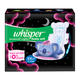 Whisper Ultra Night Sanitary Pads for Women, XXL+ 10 Napkins