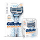 Gillette Skinguard Manual Shaving Razor and Razor blades- pack of 2 cartridges