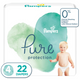 Pampers Pure Protection baby diapers, Large size taped diapers, LG 22 Count