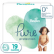 Pampers Pure Protection baby diapers, XL size taped diapers 19 Count