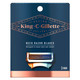 King C. Gillette Men's Neck Razor Cartridges (Pack of 3) with Built in Precision Trimmer for Shaping