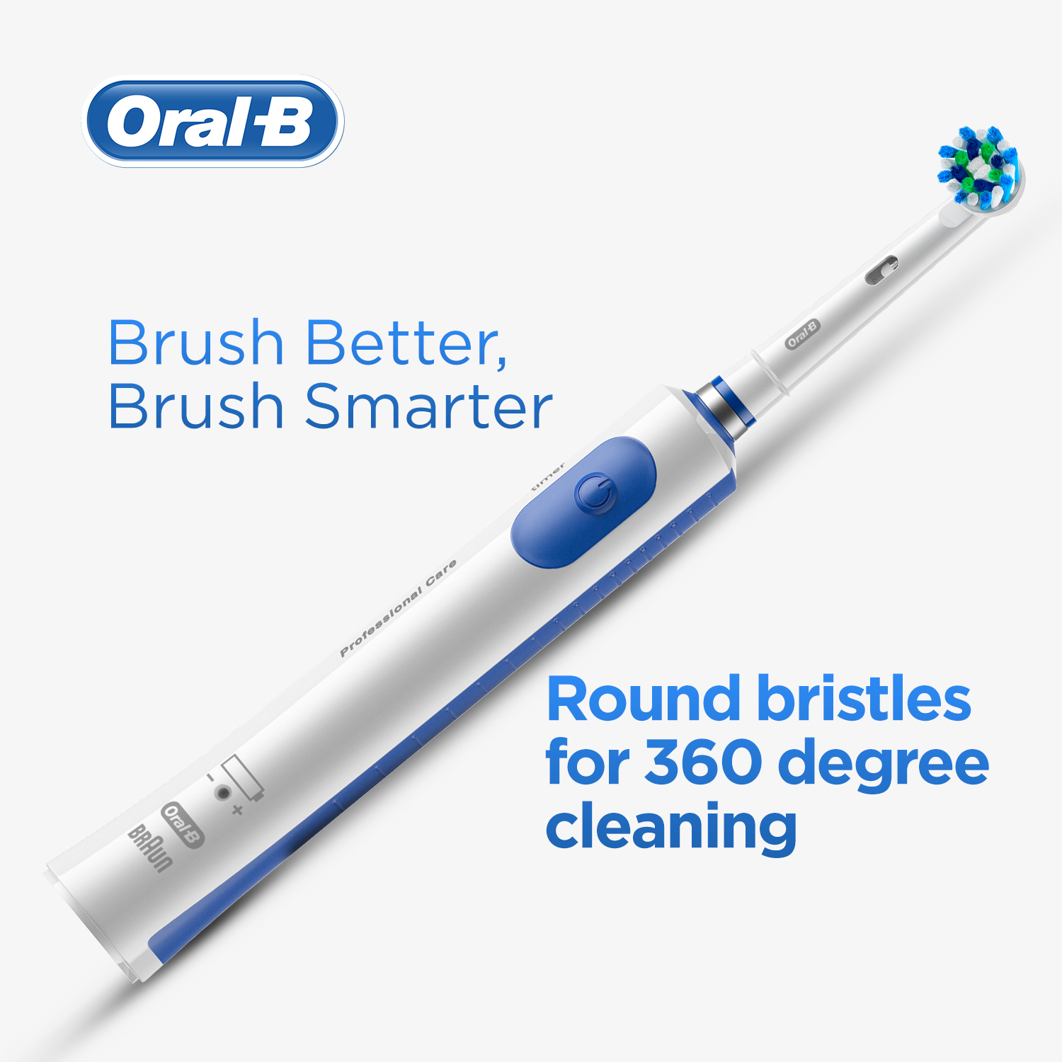 Oral-B Pro 600 Electric Toothbrush with Cross Action Bristles, Rechargeable