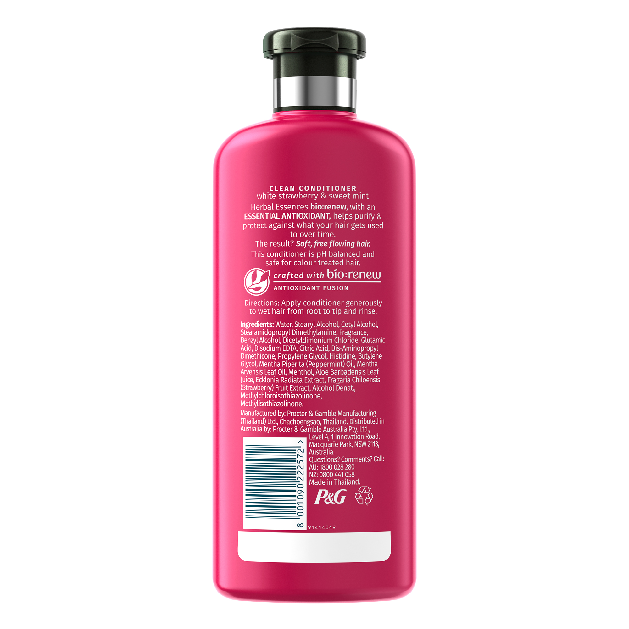 Bio:Renew White Strawberry & Sweet Mint Conditioner, 400Ml | No Parabens No Colourants