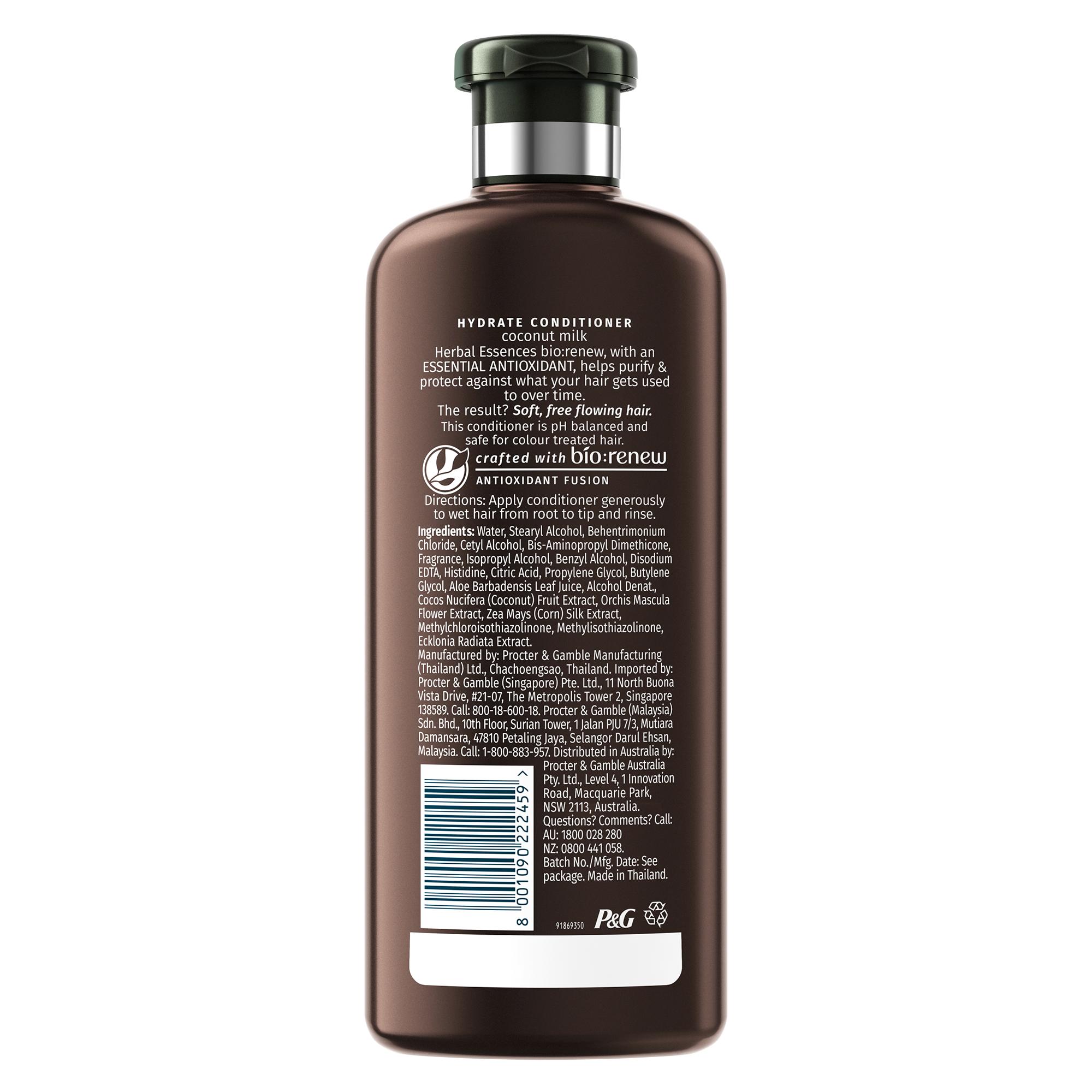 Herbal Essences Bio:Renew Coconut Milk Conditioner, 400Ml   No Parabens No Colourants