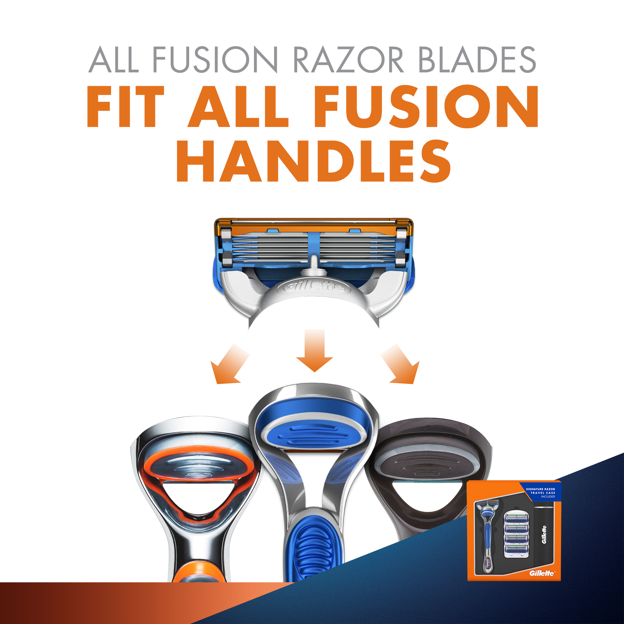 Gillette Fusion Gift Pack- Free Travel Case