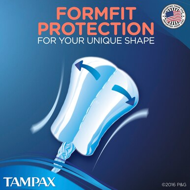 Tampax Pearl Super Plastic Tampons, Unscented, 18 Count