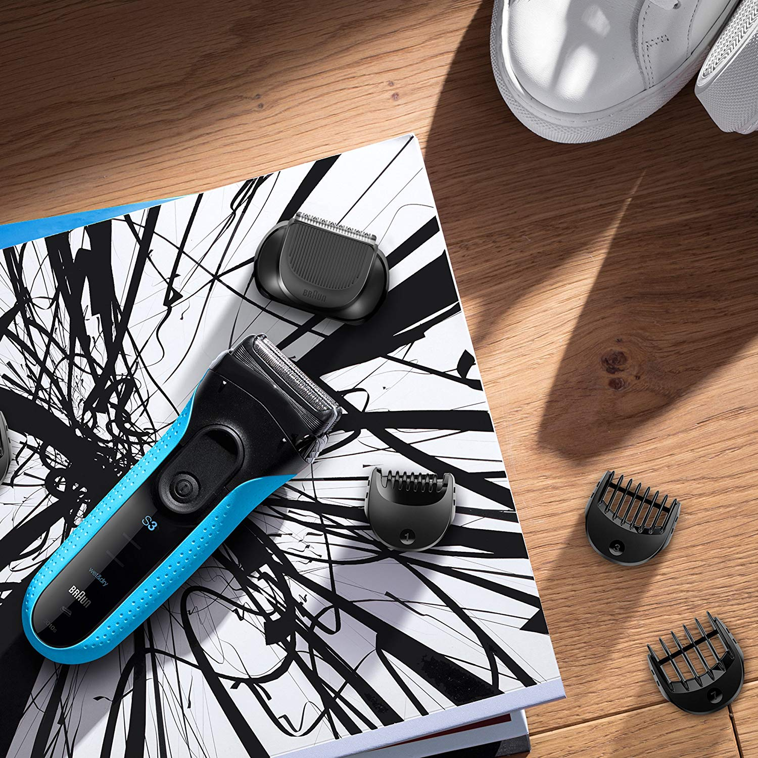 Braun Series 3 Shave&Style 3010BT 3-in-1 Electric Wet & Dry Shaver with Precision Trimmer & 5 Comb Attachments