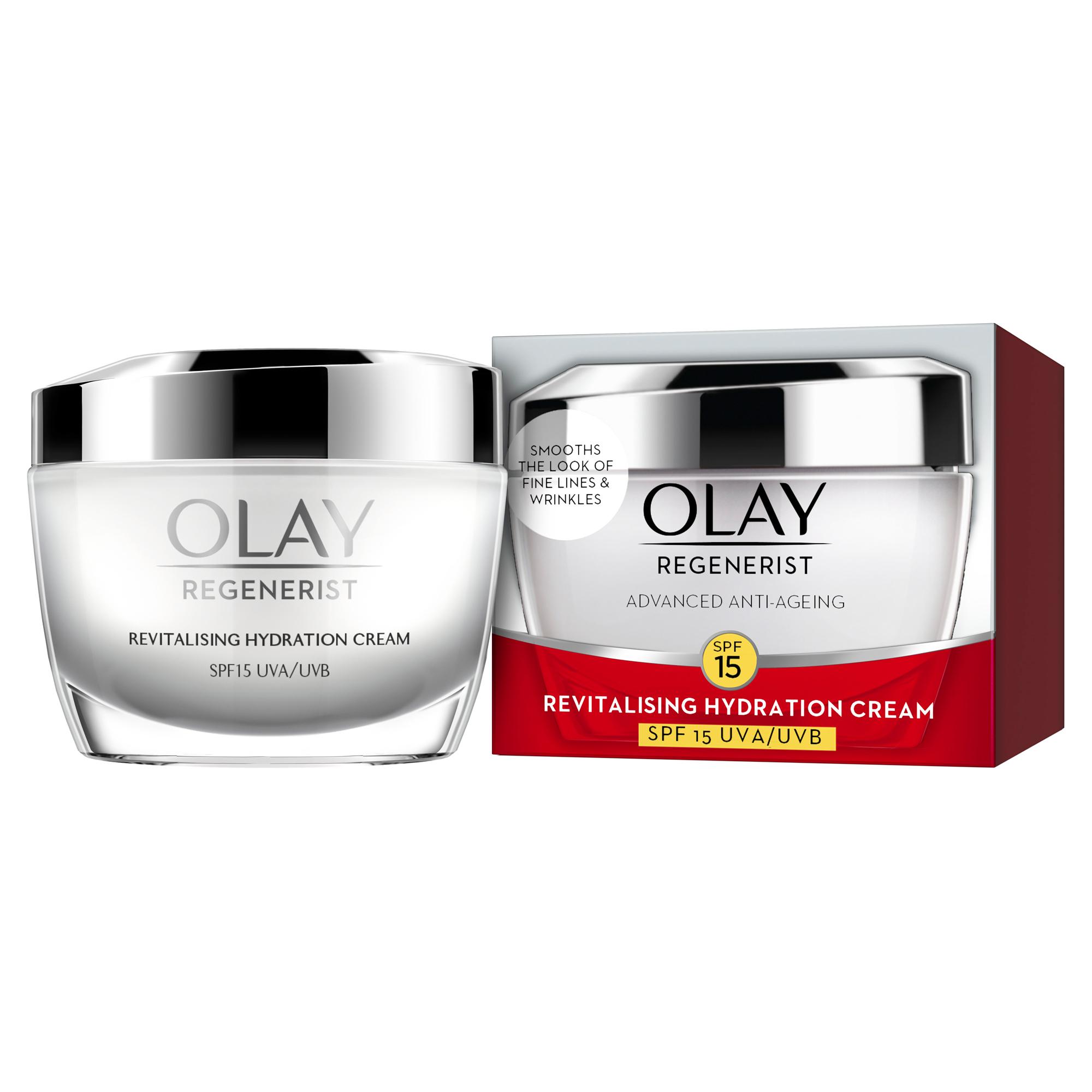 Olay Cream SPF 15: Regenerist Revitalizing Hydration Cream