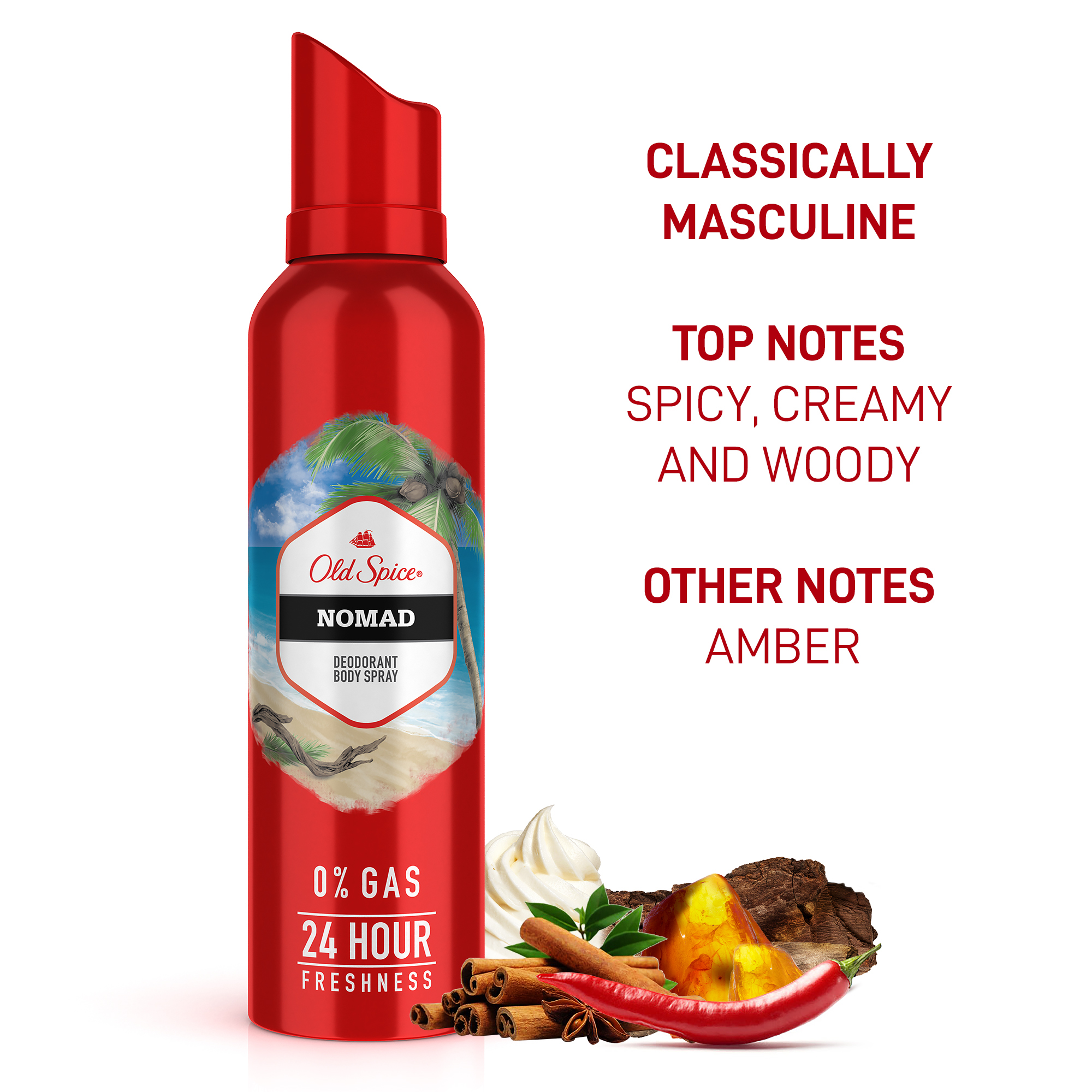 Old Spice Nomad No Gas Deodorant Body Spray Perfume, 140 ml