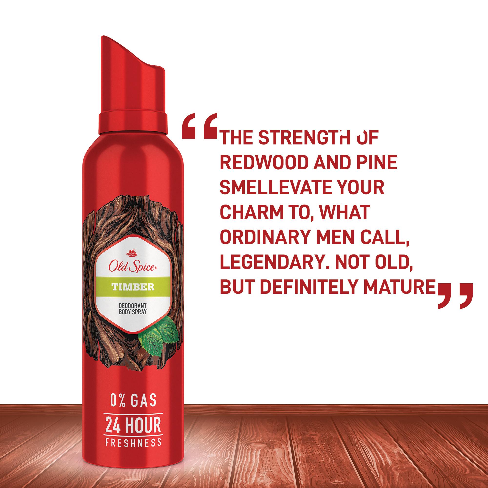 Old Spice Timber No Gas Deodorant Body Spray Perfume, 140 ml