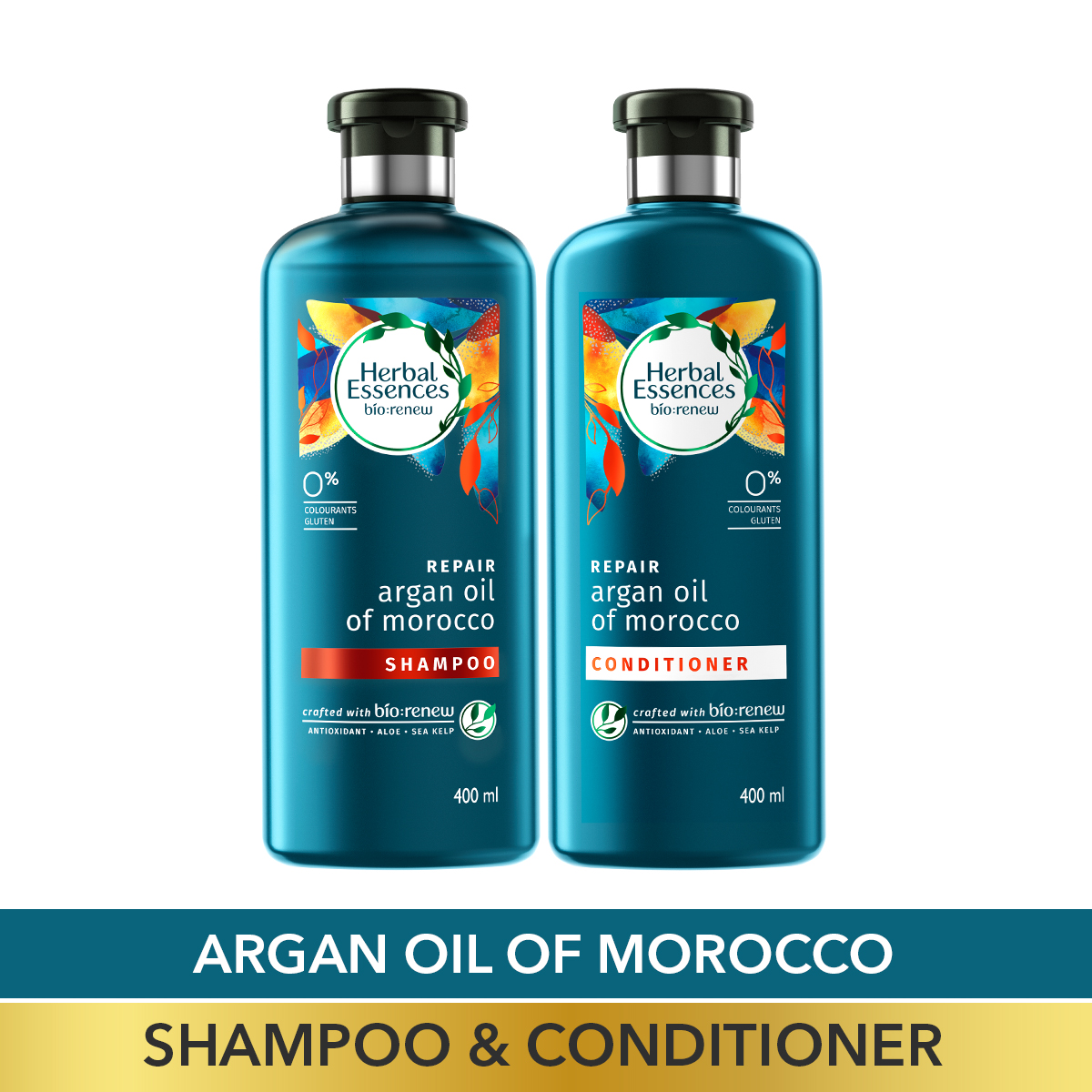 Argan Oil of Morocco Shampoo and Conditioner Combo Box, 400 ml + 400 ml