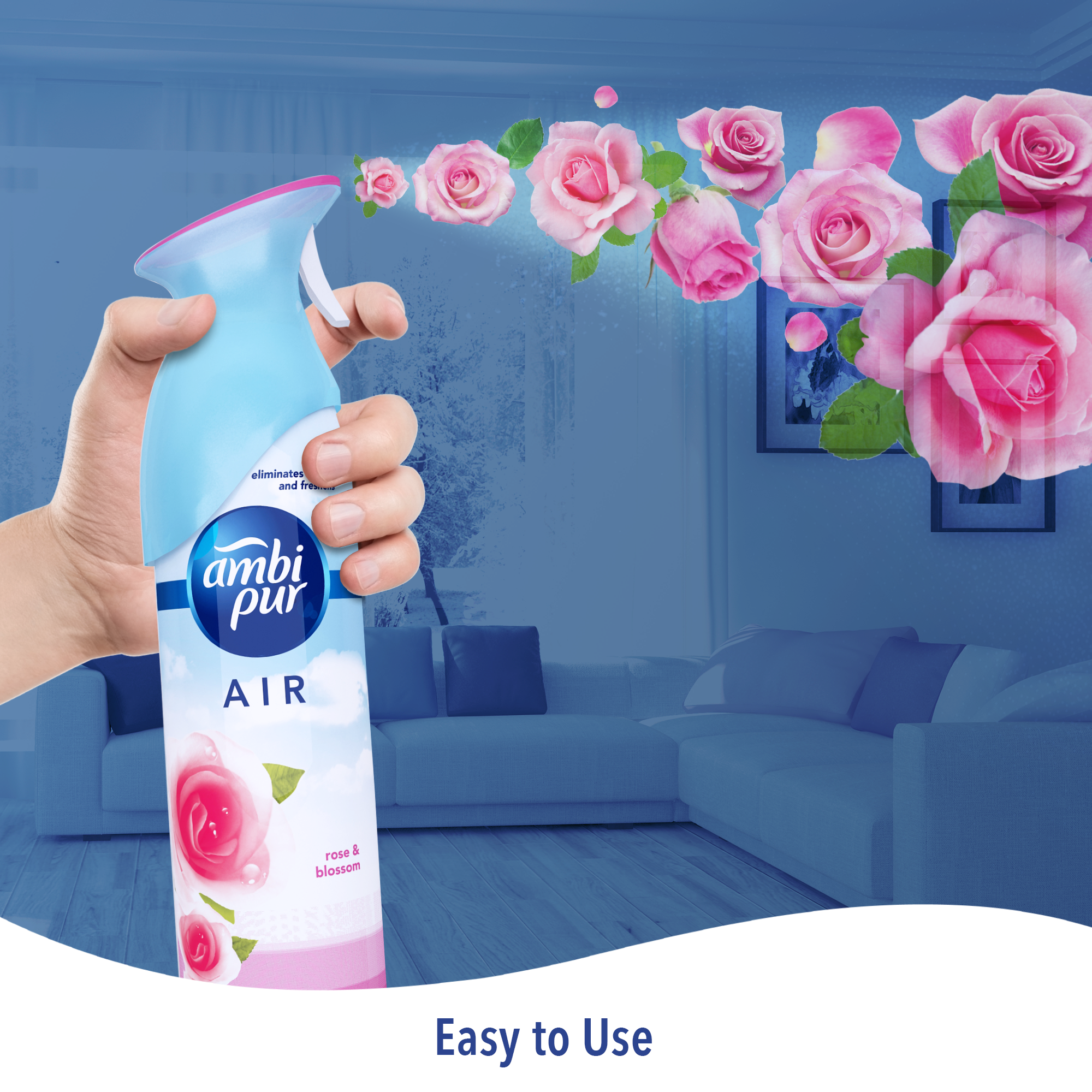 Ambi Pur Air Effect Rose and Blossom Air Freshener - 275 g