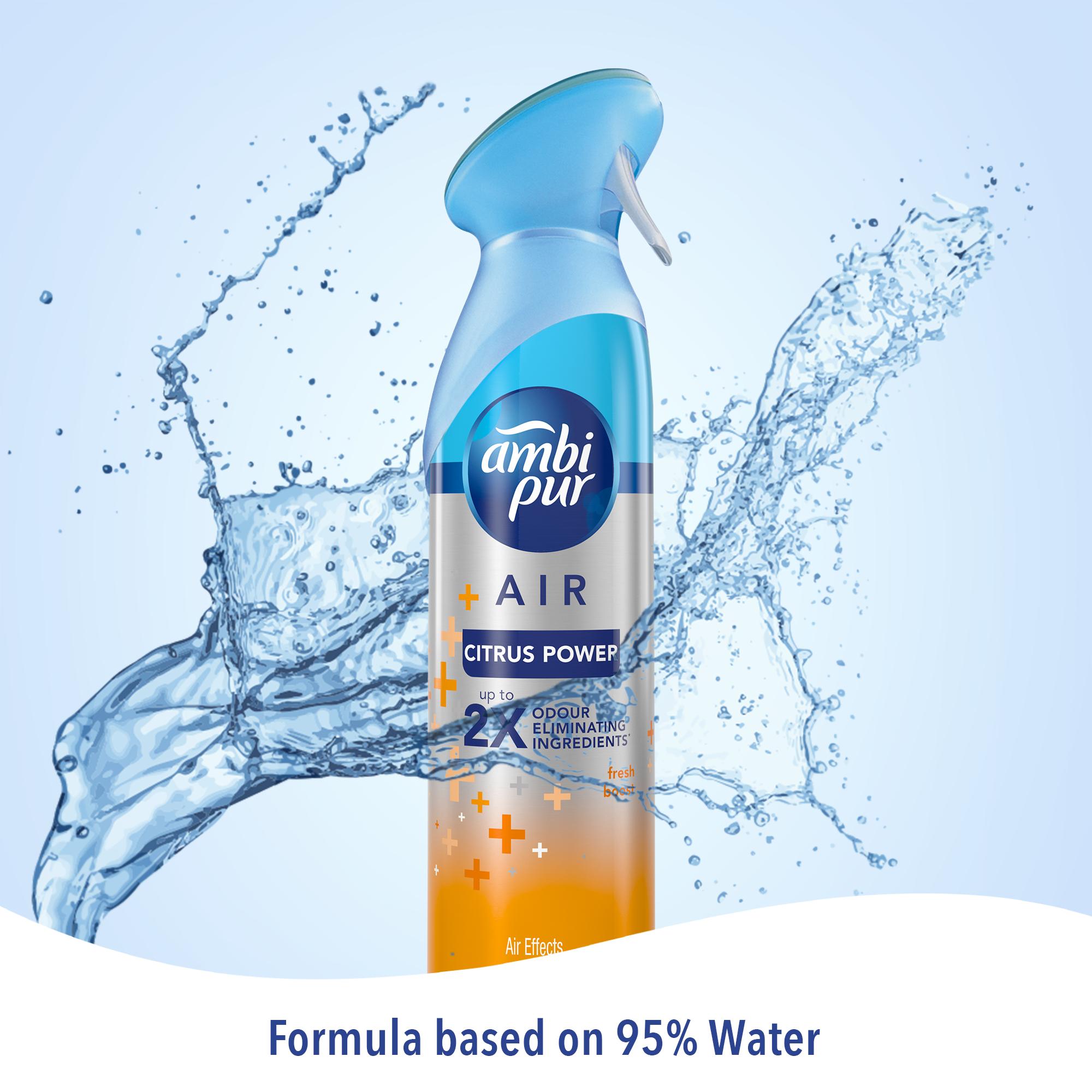Ambi Pur Citrus Power Odour Eliminating Air Freshener Spray - 275 g (Fresh Boost)