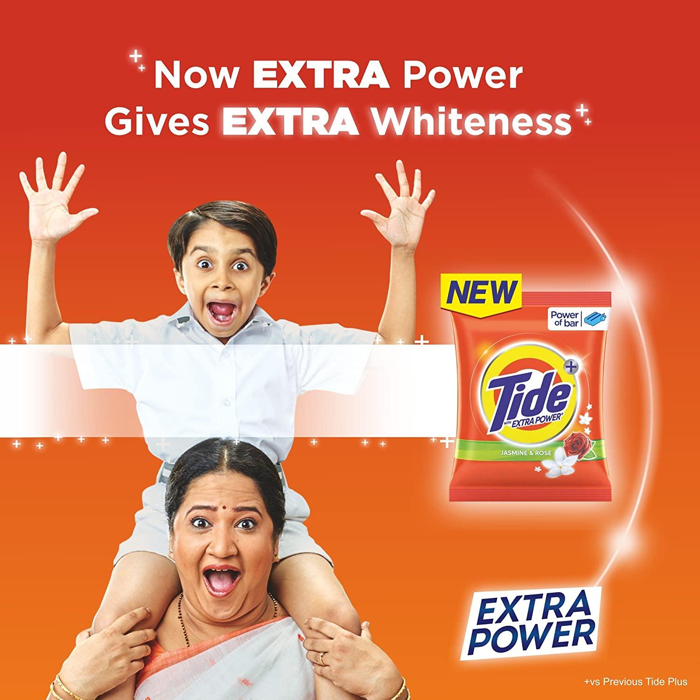 Tide Plus Detergent Powder - Jasmine and Rose - 4 kg +1 kg