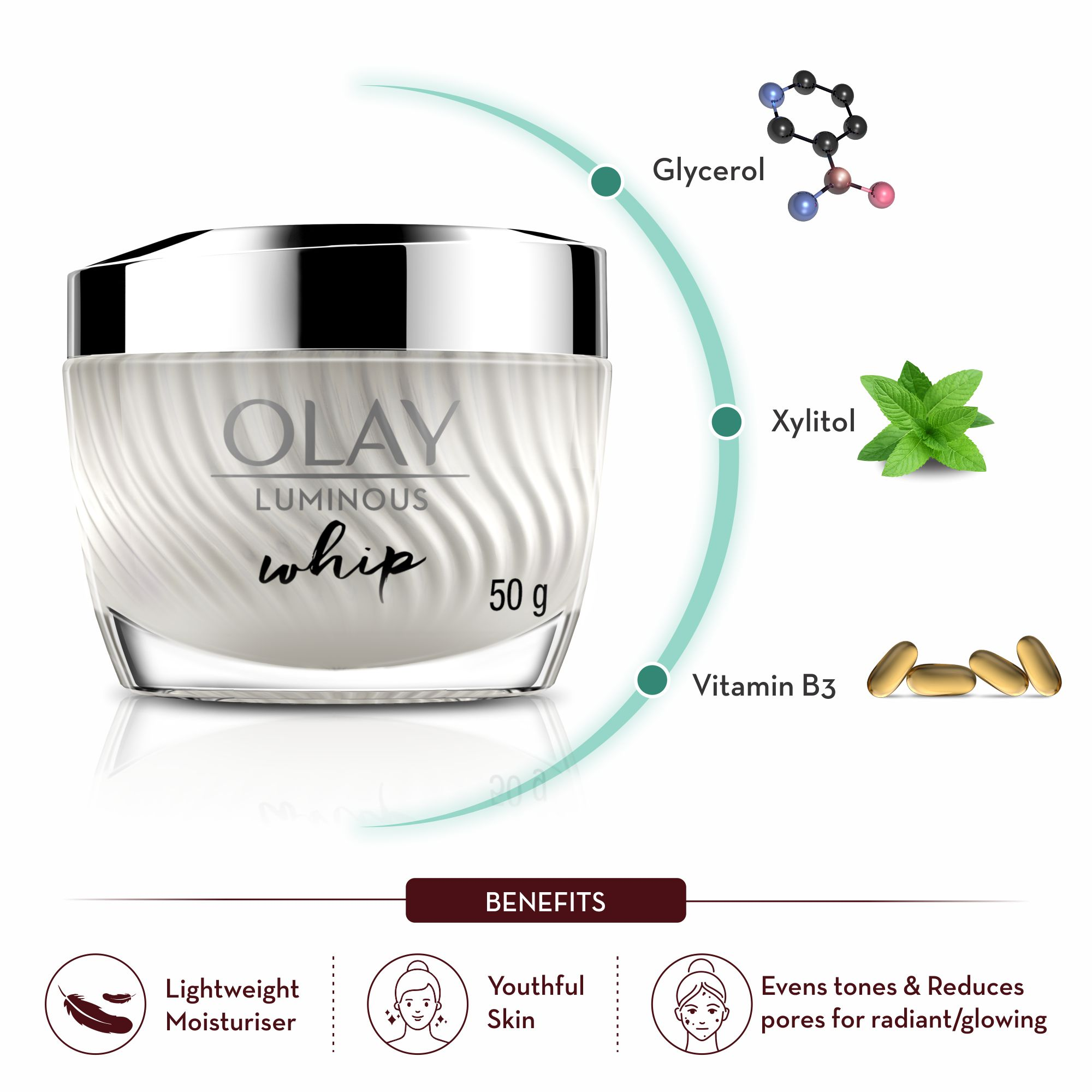 Olay Luminous Whip Day Cream (non SPF)