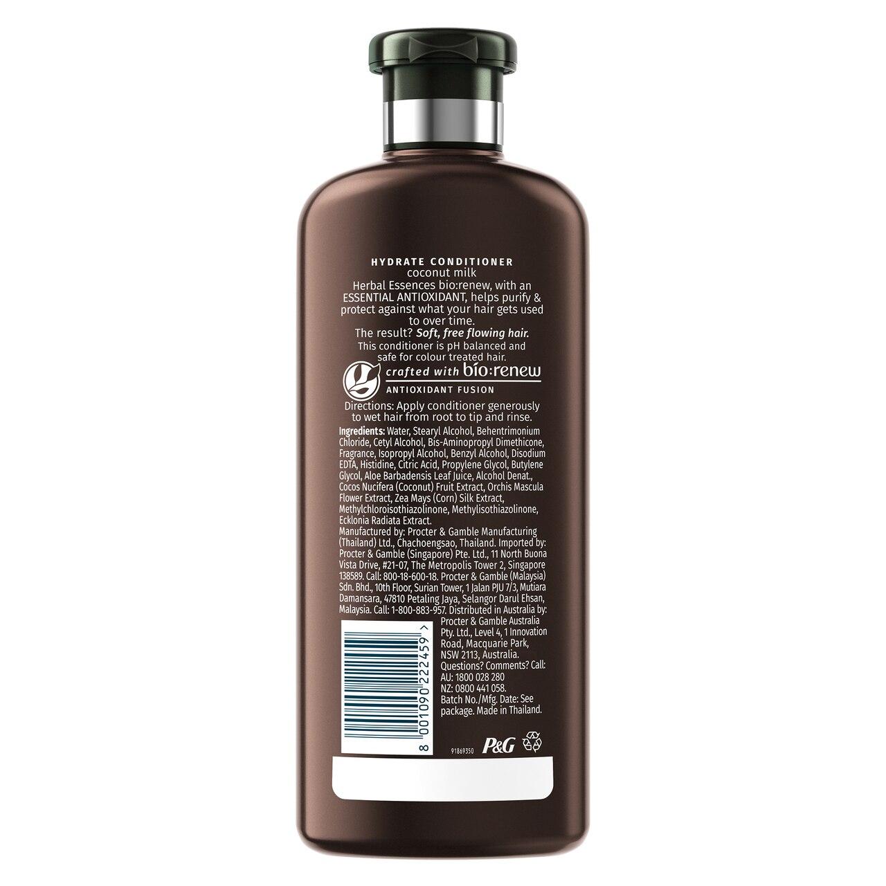 Herbal Essences Bio:Renew Coconut Milk Conditioner_400Ml | No Parabens No Colourants