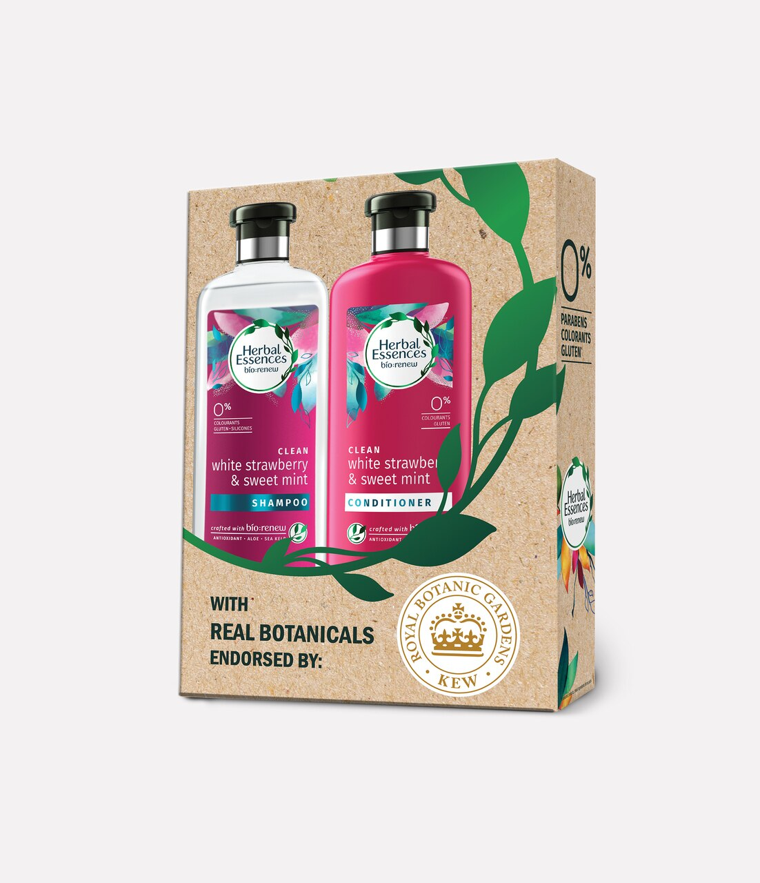 Herbal Essences Bio:Renew White Strawberry & Sweet Mint Shampoo and Conditioner Combo Box_400 ml + 400 ml