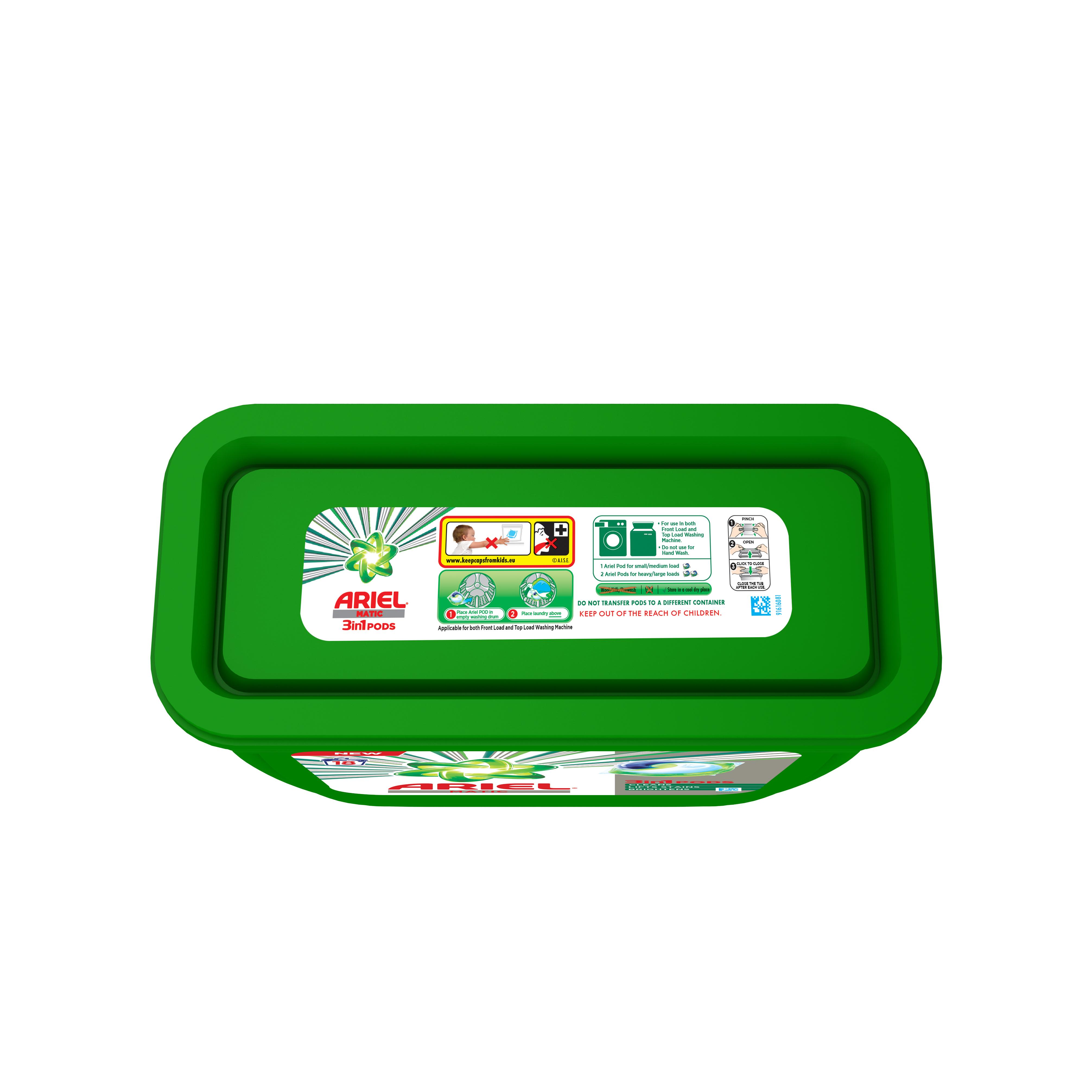 Ariel Matic 3in1 PODs Detergent Pack 18 ct