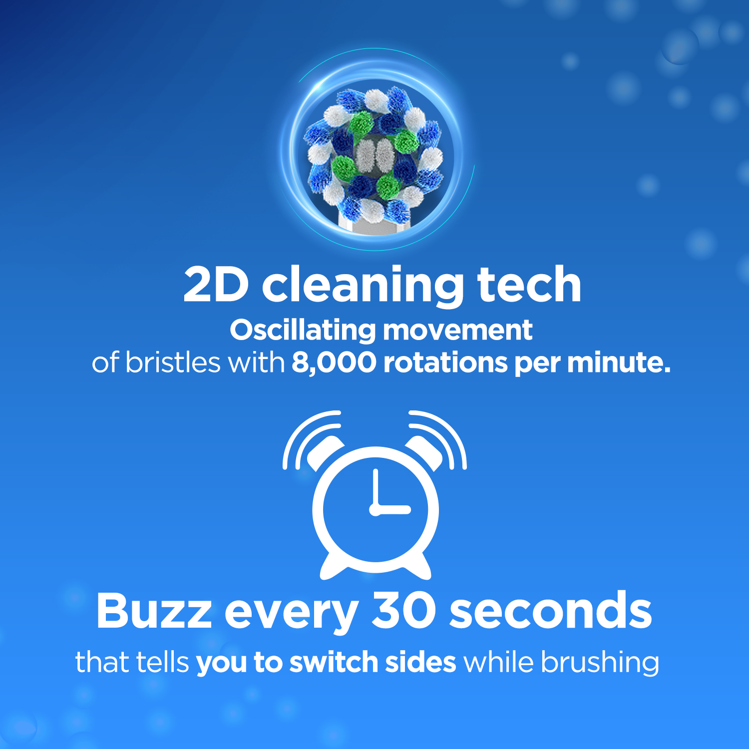 Oral-B Vitality 100 Blue Criss Cross Electric Rechargeable Toothbrush Powered By Braun