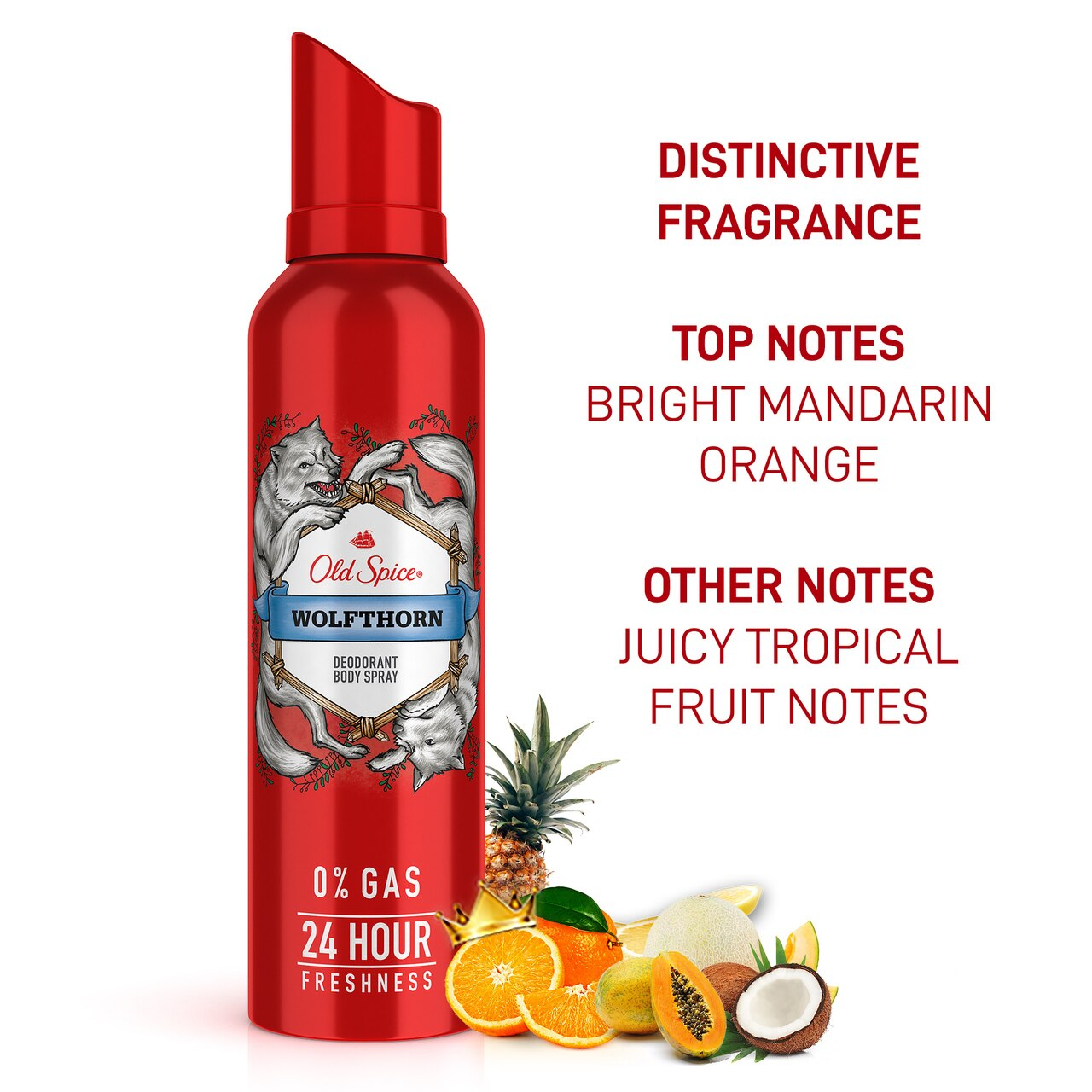 Old Spice- Wolfthorn No Gas Deodorant Body Spray Perfume, 140 ml