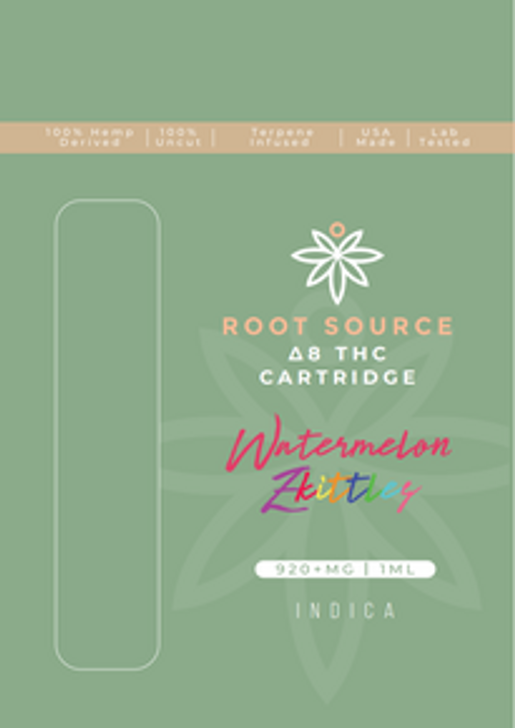 Root Source Δ8 THC Cartridges: Indica