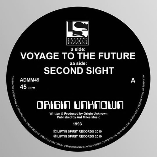 "Origin Unknown - Voyage to the Future / Second Sight - 12"" Vinyl"