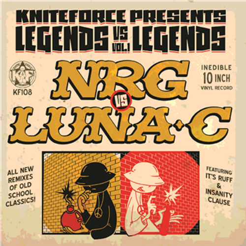"NRG Vs Luna-C  - Legends Vs Legends Vol 1 - 10"" Vinyl"