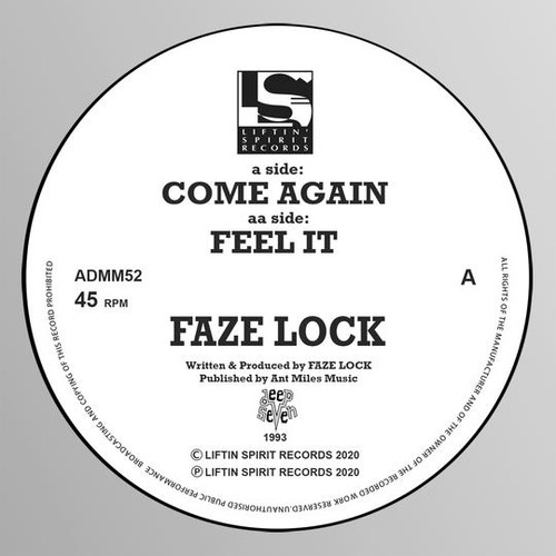 "Faze Lock - Come Again / Feel It - 12"" Vinyl"