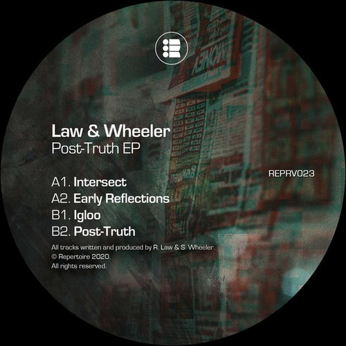 "Law & Wheeler - Post-Truth EP - 12"" Vinyl"