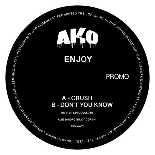 "AKO 10 Series Presents: Enjoy - Smoke 10"" Vinyl"