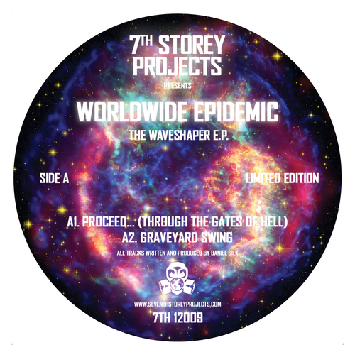 "Worldwide Epidemic - The Waveshaper EP - 7TH 12009 - 7th Storey Projects - Limited Edition 12"" Vinyl"